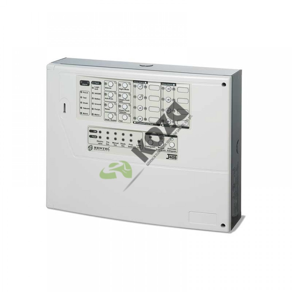 BENTEL J408-8 8 Zone Konvansiyonel Yangın Alarm Paneli