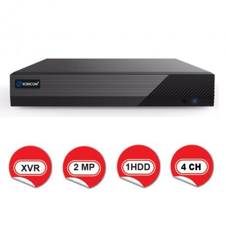 Kodicom KD-2104TS-C / 1080p 4 Kanal XVR 5 IN 1 Hibrit Kayıt Cihazı