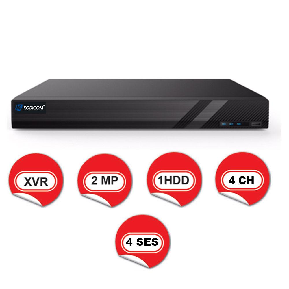 Kodicom KD-2704TS-C / 1080p 4 Kanal XVR 5 IN 1 Hibrit Kayıt Cihazı