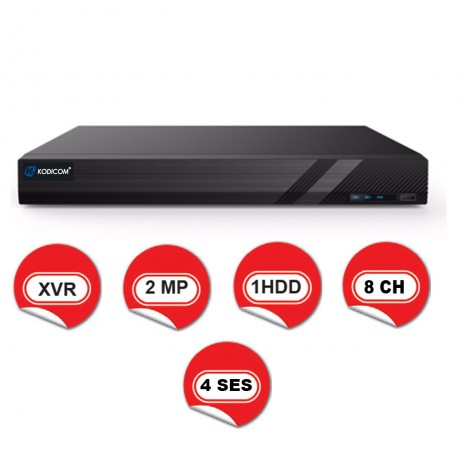 Kodicom KD-2708TS-C / 1080p 8 Kanal XVR 5 IN 1 Hibrit Kayıt Cihazı