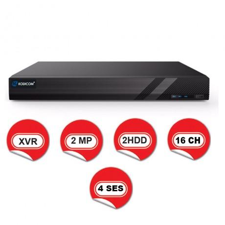 Kodicom KD-2716TE-C / 1080p 16 Kanal XVR 5 IN 1 Hibrit Kayıt Cihazı