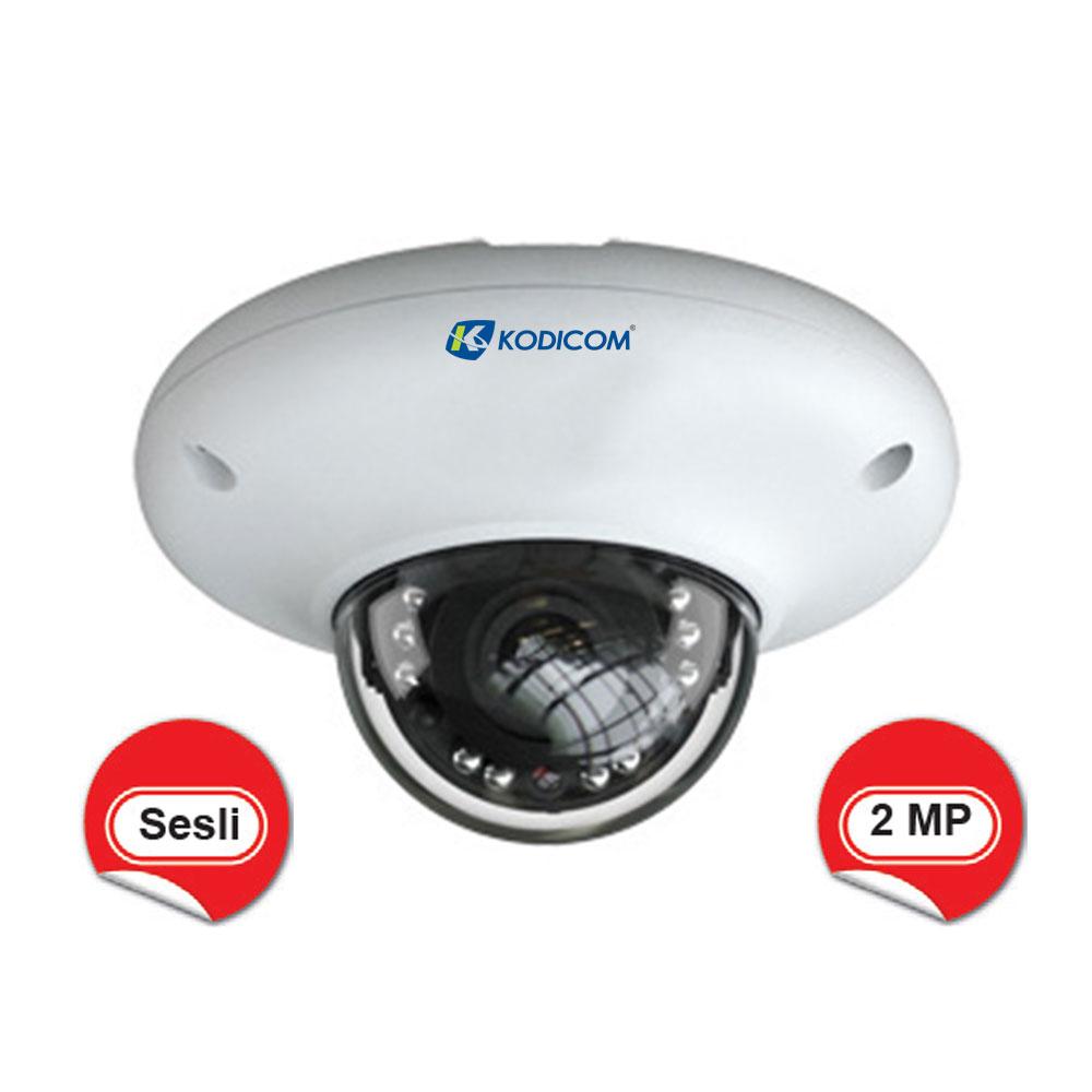 Kodicom KD-9527E2 2 Megapiksel 1080p Sesli IR Dome IP Kamera