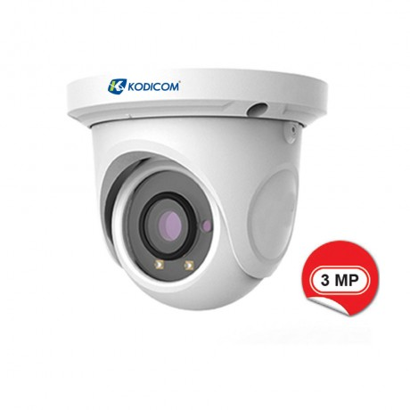 Kodicom KD-9534S1 3 Megapiksel IR Dome IP Kamera