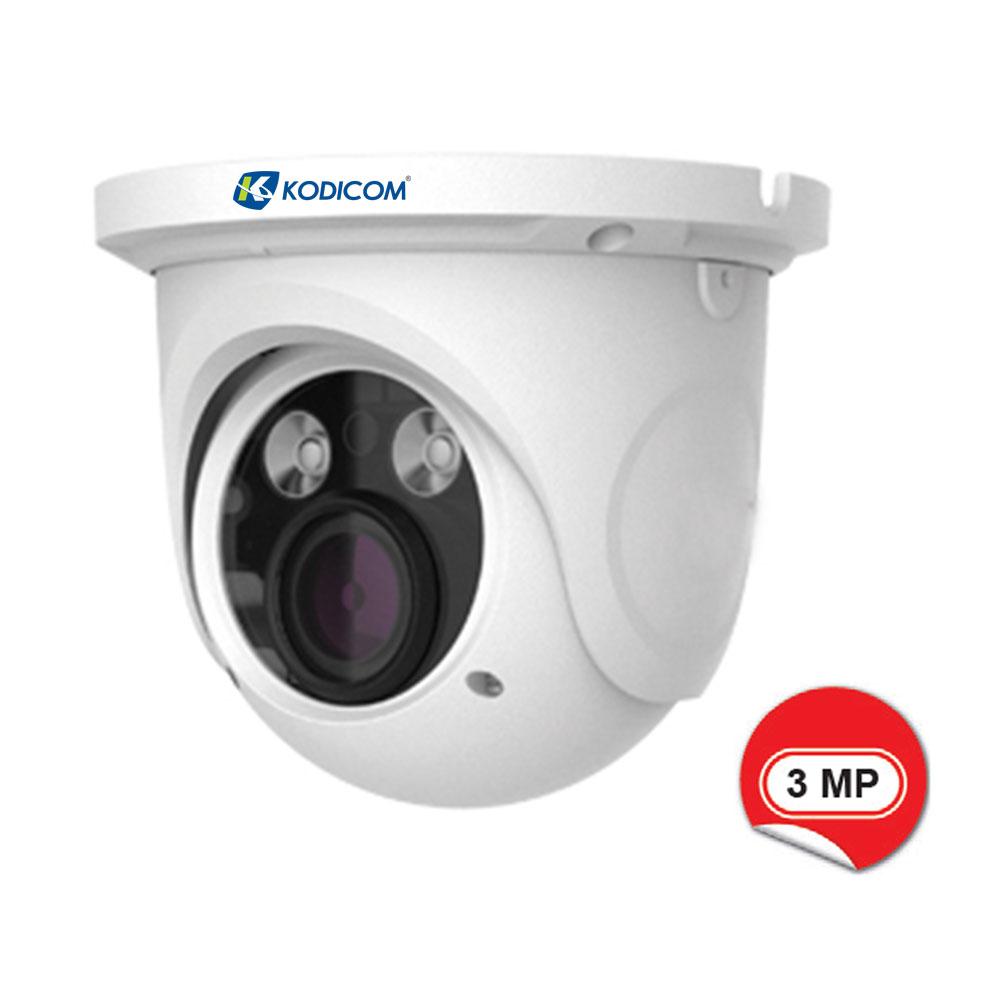 Kodicom KD-9535S1-FZ 3 Megapiksel IR Dome IP Kamera
