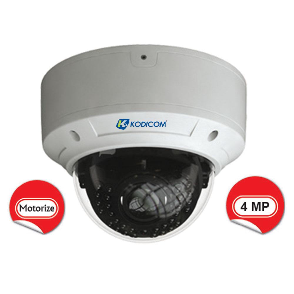 Kodicom KD-9543E2/AZ 4 Megapiksel Motorize Dome IP Kamera
