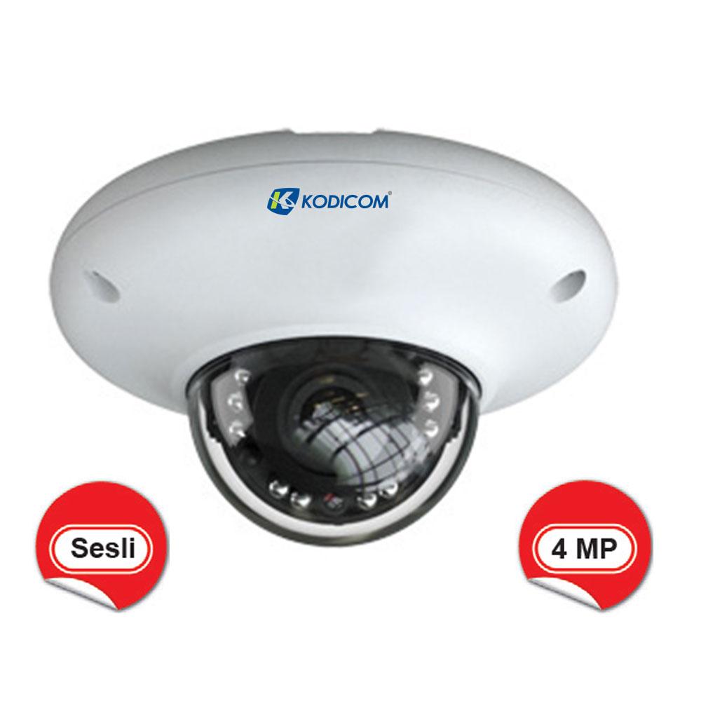 Kodicom KD-9547E2 4 Megapiksel Sesli IR Dome IP Kamera