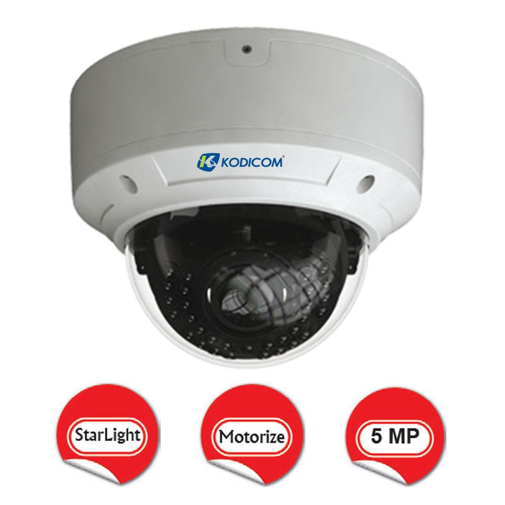 Kodicom KD-9553M2/AZ 5 Megapiksel Motorize Dome IP Kamera
