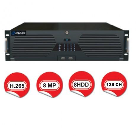 Kodicom KD-N128E / 128 Kanal 8 Megapiksel NVR Kayıt Cihazı