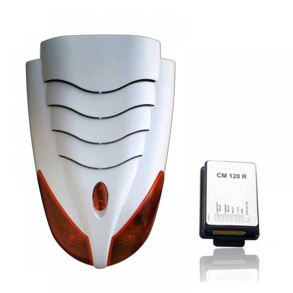 Teletek SR200R Li + CM120R Kablosuz Siren