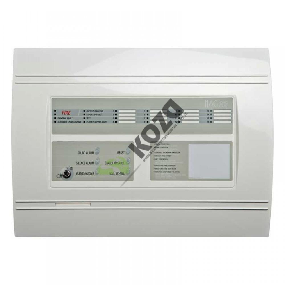Teletek MAG 8Plus 16 Zone Konvansiyonel Yangın Alarm Paneli