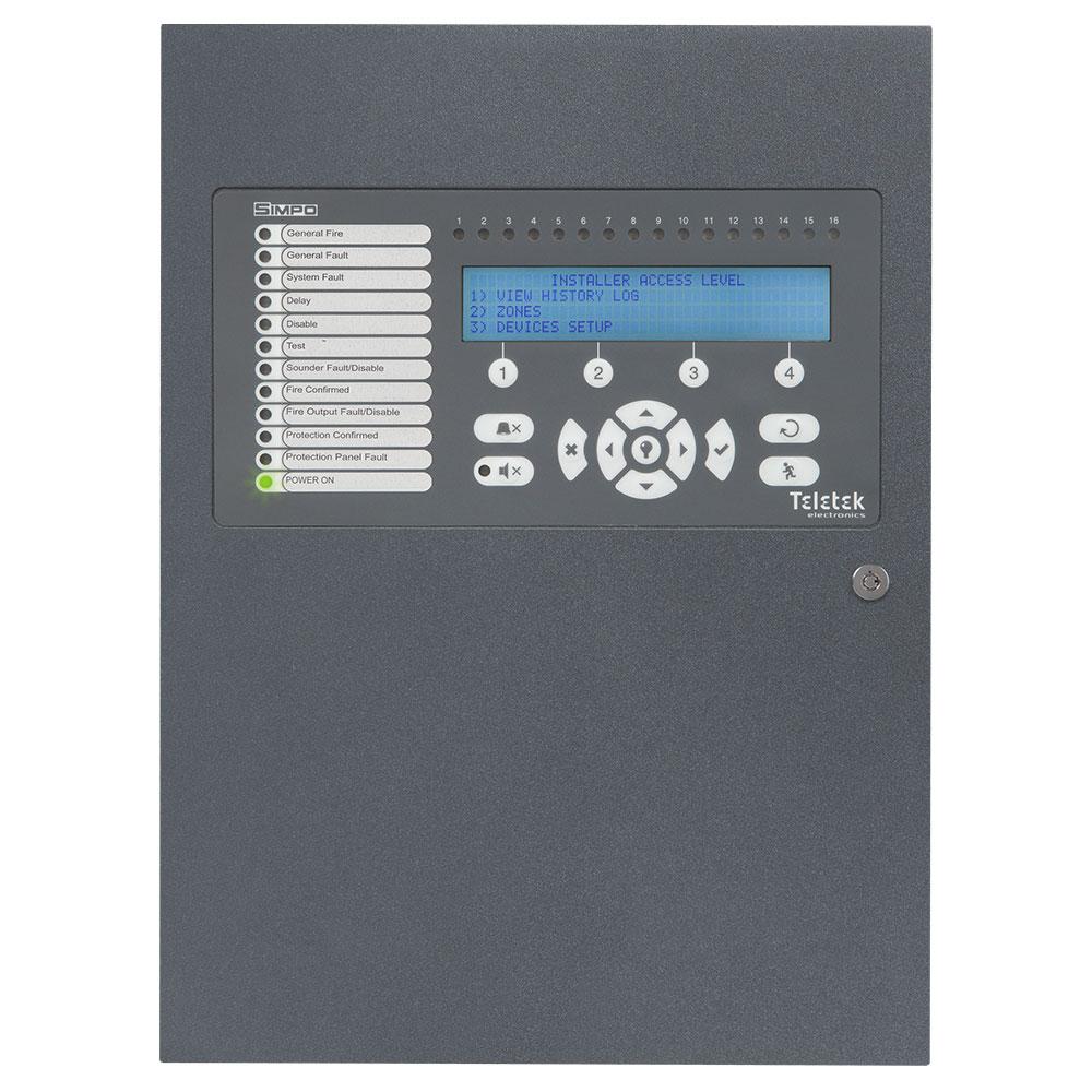 Teletek SIMPO 1 Loop Adresli Yangın İhbar Paneli